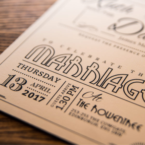 Bespoke Wedding Invitations: Wedding Invitations & Stationery