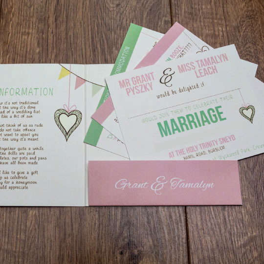 Pocket Fold Wedding Invitation