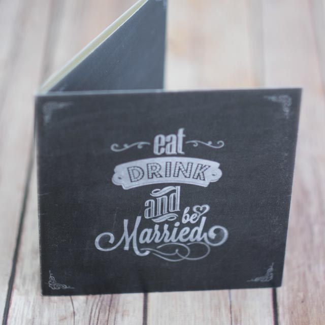 Square Chalkboard Wedding Invitation