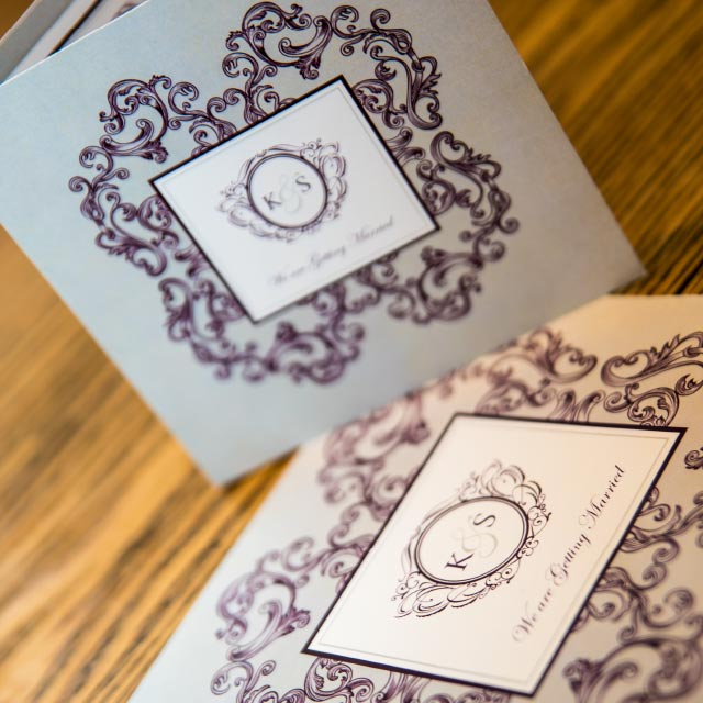 Victorian in Design Folded Wedding Invitation
