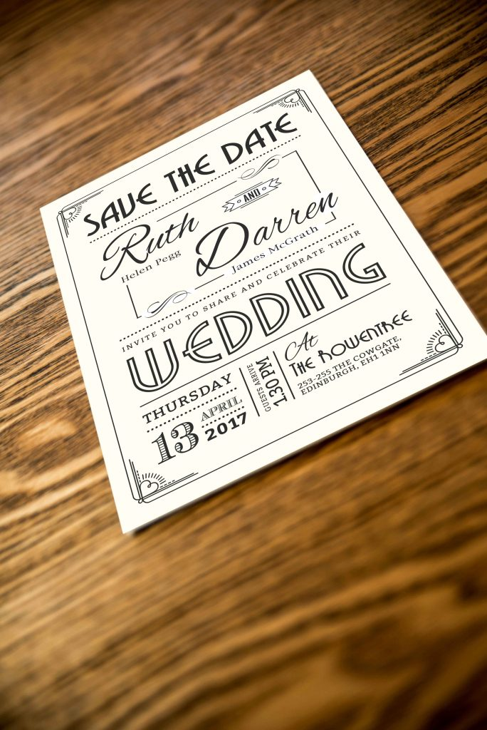 Save The Date - Art Deco