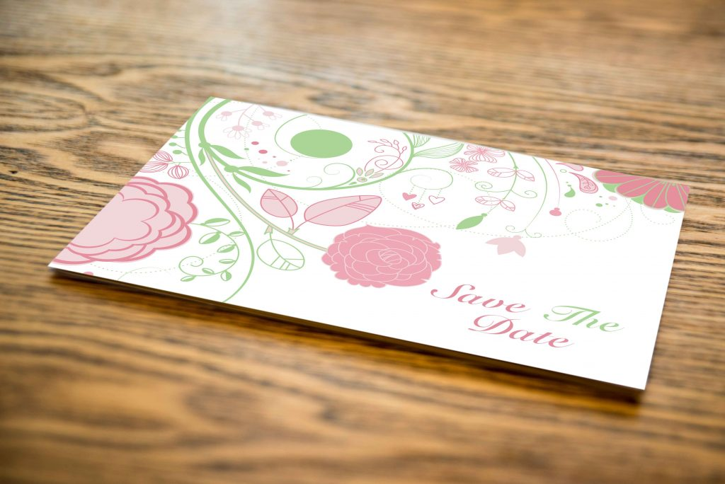Save The Date - Floral Fold